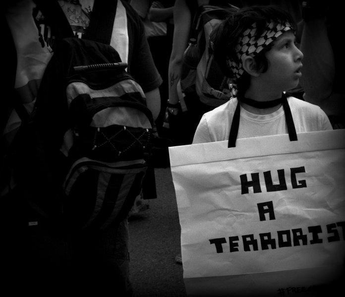 Hug an activist  © by SpaceUtopian